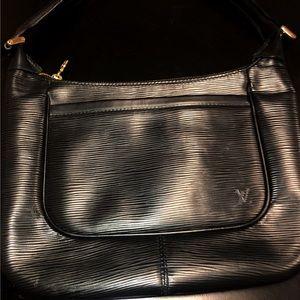 LOUIS VUITTON black Epi Leather Sarvanga